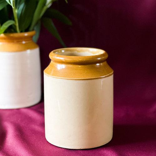 Large Vintage Stoneware Storage Jar