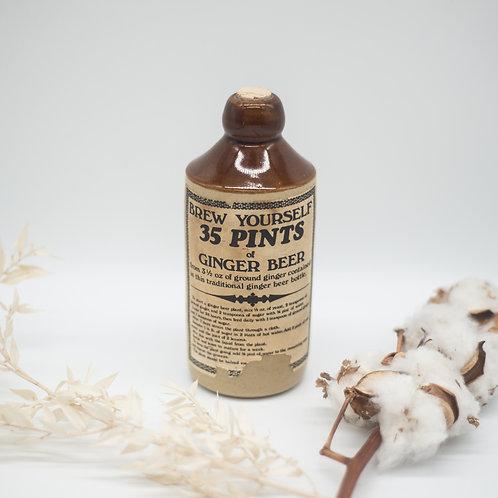 Vintage Usborne Ginger Beer 'Brew Yourself' Stoneware Bottle