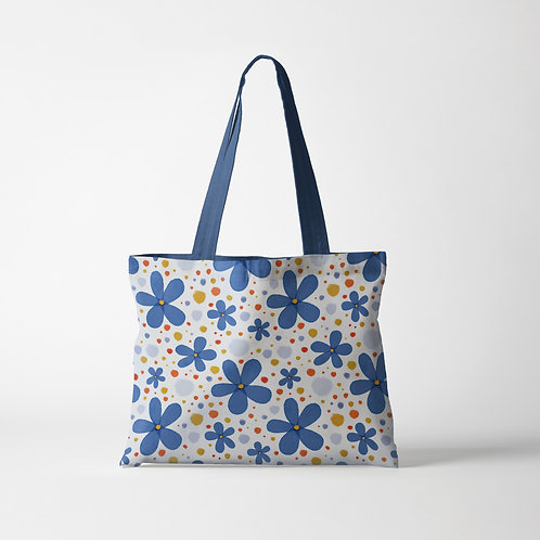 Poppy Blues Tote