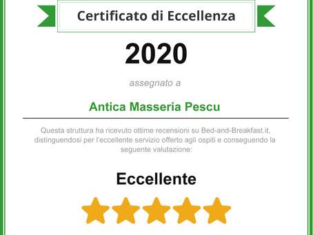 Premi, riconoscimenti e certificati di Masseria Pescu