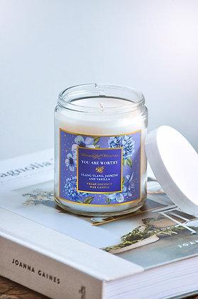 You Are Worthy Ylang Ylang, Jasmine, Vanilla 8oz Candle