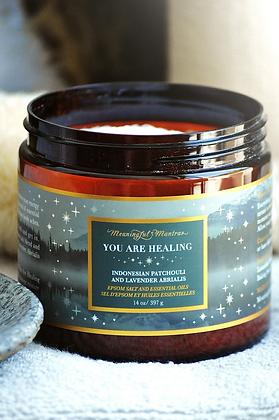 You Are Healing Lavender/Patchouli 14oz Epsom Salt