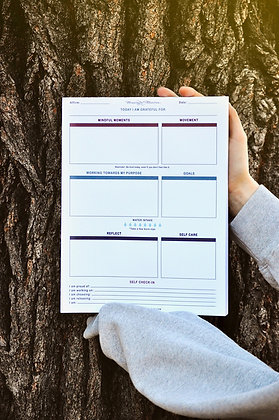 "8.5"" x 11"" Mindful Undated Daily Planner"