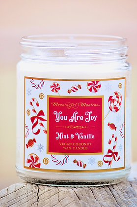 Mint & Vanilla You Are Joy Holiday 8oz Candle