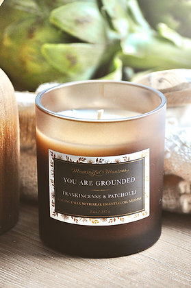 You Are Grounded Frankincense/Patchouli 8oz candle