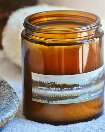 You Are Healing Indonesian Patchouli Lavender Abrialis 8oz Candle