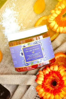 You Are Worthy Ylang Ylang, Jasmine, Vanilla Planifolia 14oz Epsom Salt