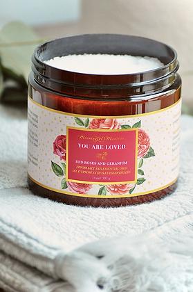 You Are Loved Rose Geranium 14oz Epsom Salt