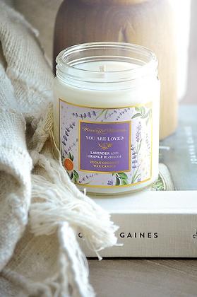 You Are Loved Lavender/Orange Blossom 8oz Candle