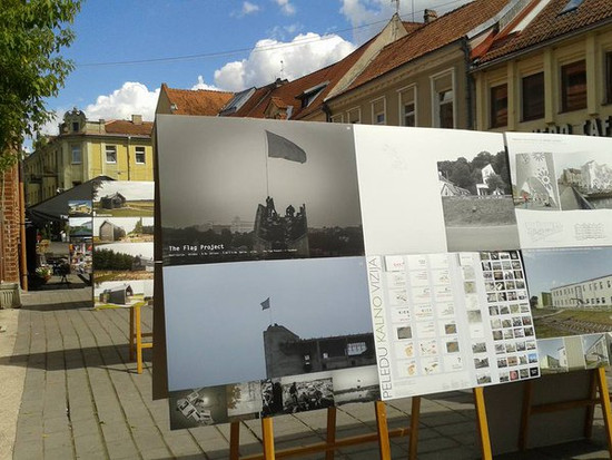 The Flag Project at the Architecture day's exposition