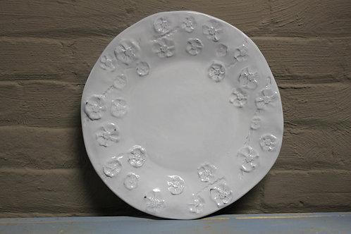 White Gardenia Dinner Plate Set of 4