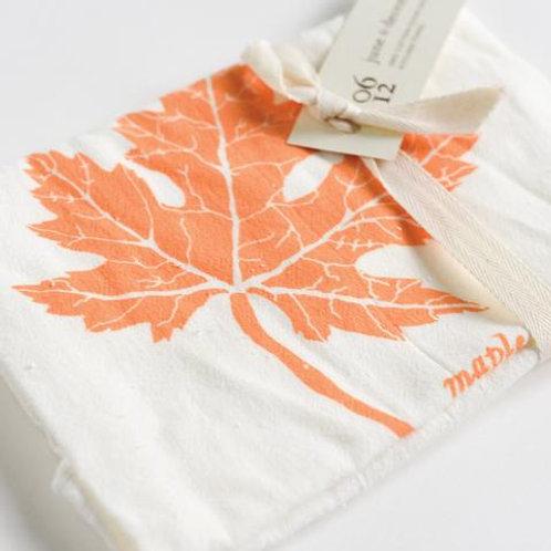Flour Sack Tea Towel - Maple Leaf