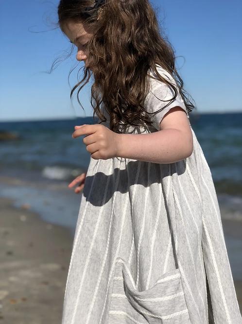 Braided Stripe Dress Dove