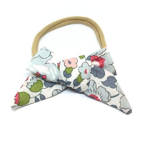 Floral Linen Bow Headband