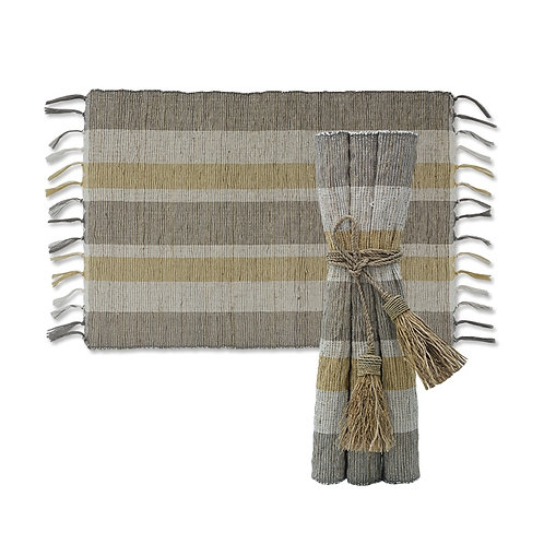 Indian Summer Vetiver Placemats Set6