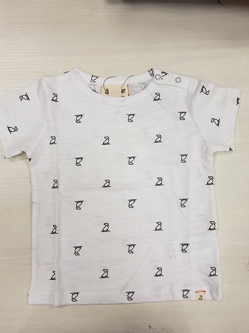 T-shirt White Little Dog