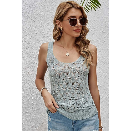 Hollow Out Knitted Tank Top