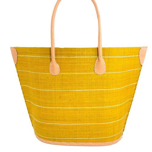Pin Stripe Straw Bag
