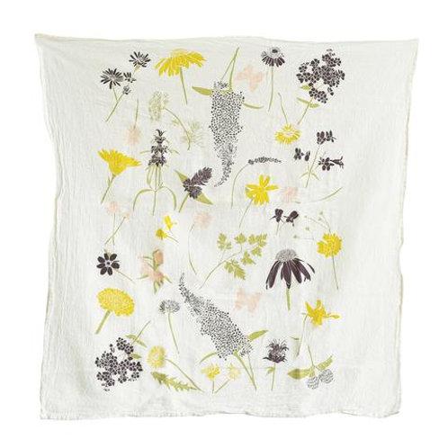 Flour Sack Tea Towel - Butterfly Garden