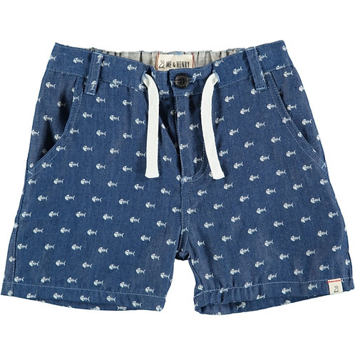 Me & Henry Fish Chambray Shorts
