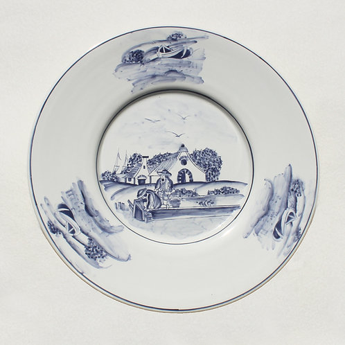 Campo Azul By the Lake Round Serving Platter
