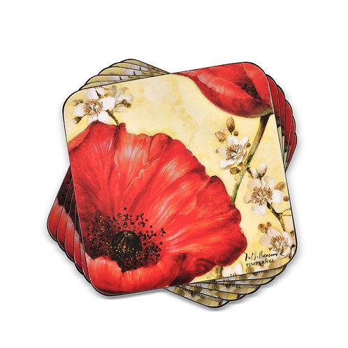 Poppy de Villeneuva Coasters Set of 6