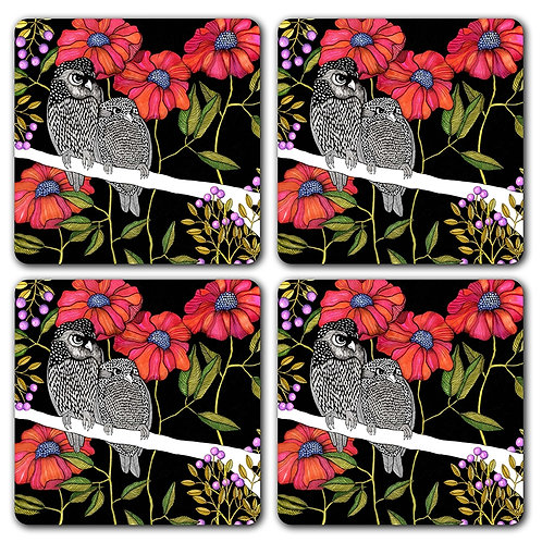 Angry Owl Coasters