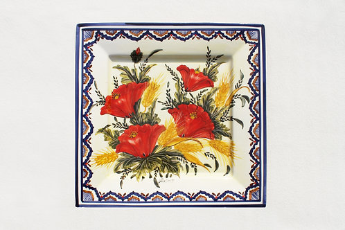 Poppies (Papoilas) Square Serving Platter