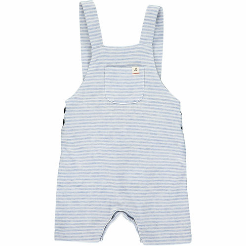 Blue & White Jersey Shorty Overall