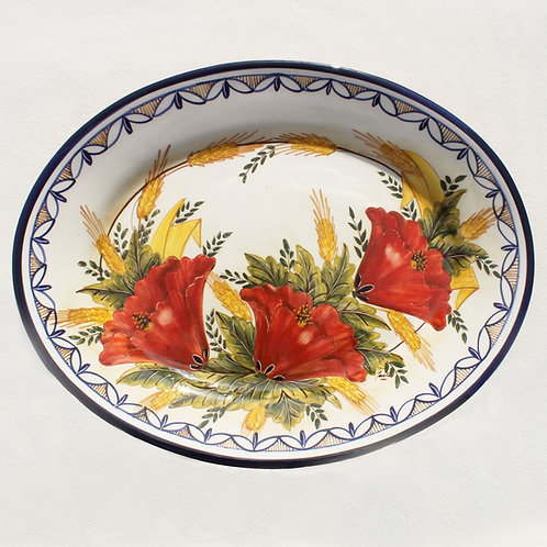 Poppies (Papoilas) Large Oval Serving Platter