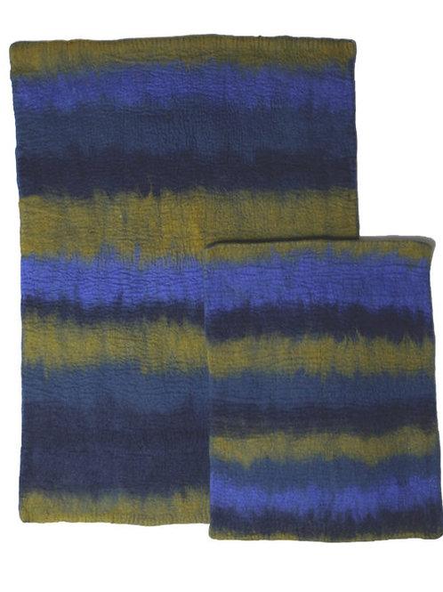 Navy Multi-Ombre Wool Mat