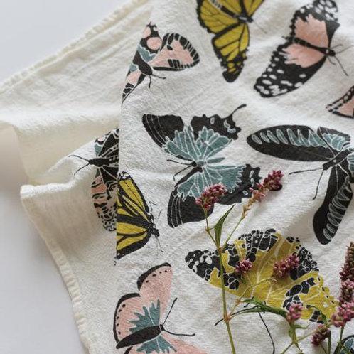 Butterfly House Flour Sack Tea Towel