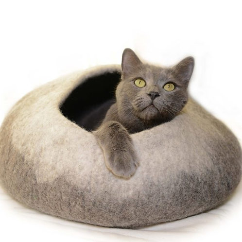 Natural Ombre Felt Pet Cave