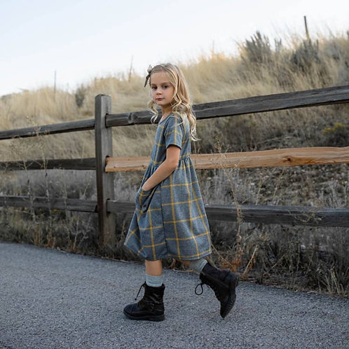 Scout Mustard Grid Dress