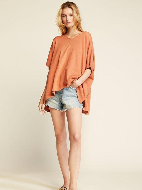 Half Sleeves Merino Wool Poncho
