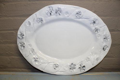 White Gardenia Serving Platter