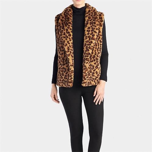 Cheetah Faux Fur Vest