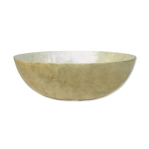 Capiz Cream Serving Bowl