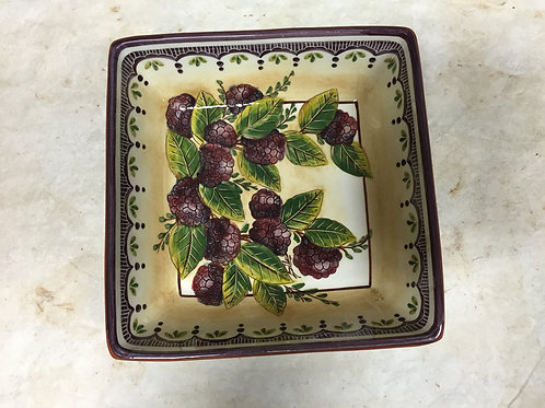 Berries (Amoras) Square Serving Bowl