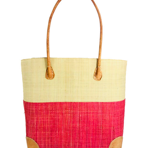 Trinidad Two Tone Straw Basket