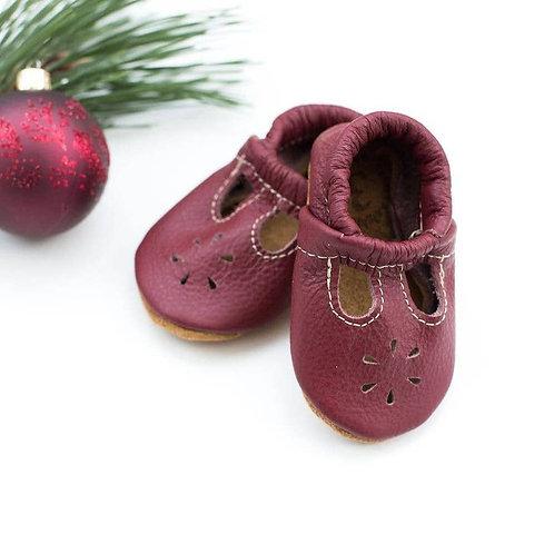 T Strap Shoes Cranberry 9M