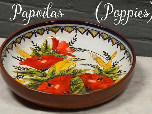 Poppies (Papoilas) Large Serving Bowl