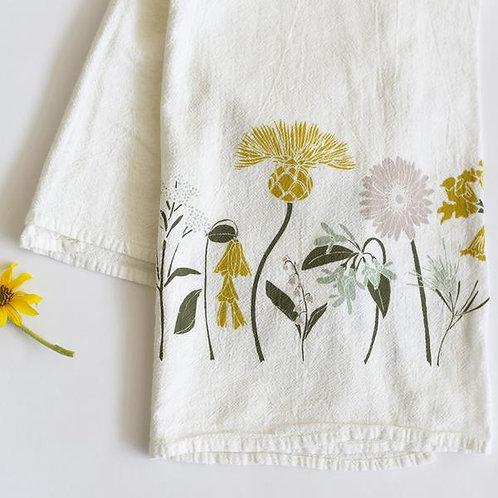 Flour Sack Tea Towel - Happiness
