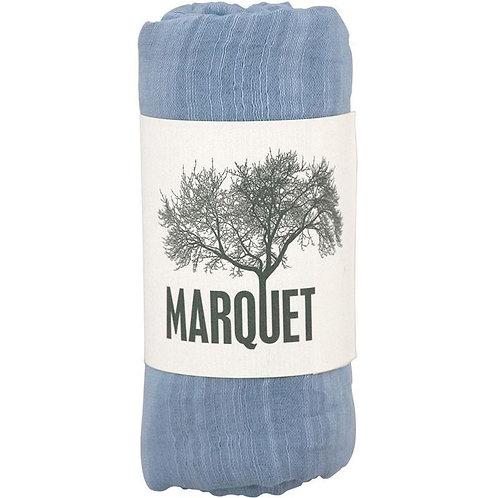 Silk & Cotton Shawl/Scarf Blue Dew