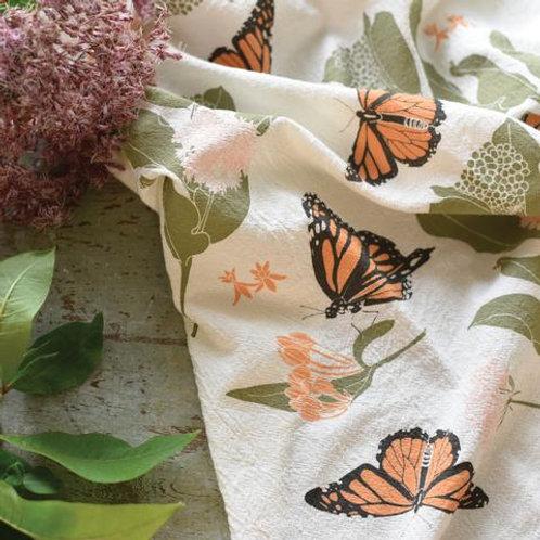Monarchs & Milkweeds Flour Sack Tea Towels