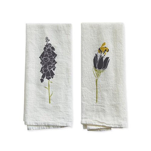 Foxglove & Crocus Flour Sack Napkins - Set of 4