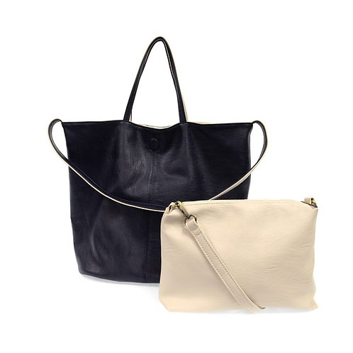 Reversible Slouchy Handbag Navy