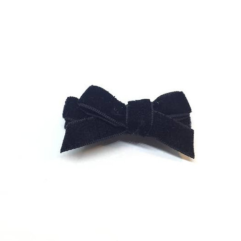 Velvet Mini Bow Hair Clip