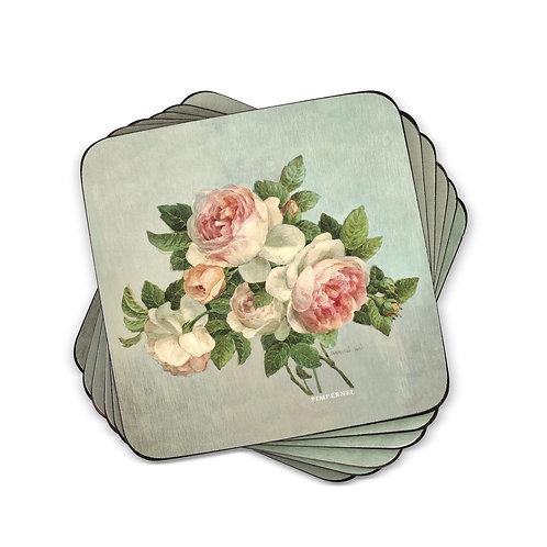 Antique Roses Coaster Set of 6