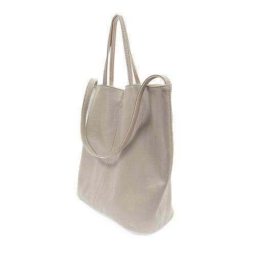 Reversible Slouchy Handbag Light Grey